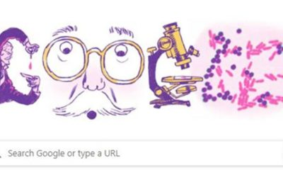 Google Doodle Honours Well Known Microbiologist Hans Christian Gram!